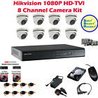 1080p Hikvision 8x Full HD TVI Cameras & 8 Channel HDTVI DVR - CCTV Security Kit
