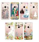 Disney Princess Crystal Diamond Soft Clear Rubber Full Case For iPhone 6S/6 Plus