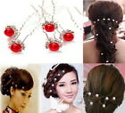 20 PCS Wedding Bridal Pearl Pins Flower Crystal Bridesmaid Hair Clips