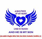 A BIG PIECE OF MY HEART LIVES IN HEAVEN T-Shirt 8 Vinyl Colors!  FREE SHIPPING