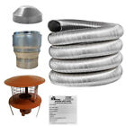 Stove Flue Liner Kit 5 Inch Chimney Pot 125mm Flexible Installation fireplace