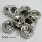 UNC - A2 Stainless Steel Hexagon Thin / Half / Nuts 1/4, 5/16, 3/8, 7/16, 1/2