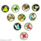 Gift Wholesale Snap Mini Buttons Fit DIY Snap Bracelets Butterfly Mixed 12mm