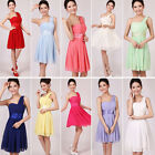 Girl's New Bridesmaid Dresses Short Dress Party One Shoulder Strap Dress A197