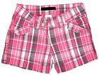 Girls Chainstore Pink Check Fashion Turn Up Checked Sun Shorts 4 to 12 Years