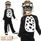 Cat + Eyemask Girls Fancy Dress Childrens Animal Kids Halloween Costume Outfit