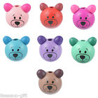 10PCs NEW 3D Bear Head Making Pacifier Soother Jewelry Wood Beads 2.8x2.5cm