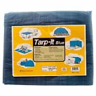 Car' Blue Tarp Tarpaulin Poly Tent Canopy Cover Camping Ground Sheet w/ Grommets