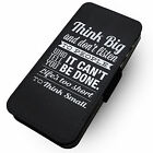 Think Big | Faux Leather Flip Phone Cover Case | Motivation Style