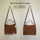"""Lucky Brand, Women's Cross Body handbag, """"REAL SUEDE FRINGE"""".Real Leather.NWT"""