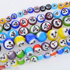1 PC Mixed Round Emotion Millefiori Lampwork Glass Beads(38) Jewelry Findings