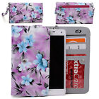 Women's Flower Pattern Wallet Case Cover for Smart Cell Phones by KroO ESLGF-5