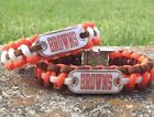 Cleveland Browns Paracord Bracelet w/ NFL Dog Tag and Metal Buckle. AWESOME!!! on eBay