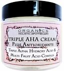ORGANIC Natural Triple Alpha Hydroxy Acid & Multi Fruit Acids Complex Face Cream