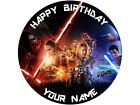 "7.5"" NEW STAR WARS THE FORCE AWAKENS CAKE TOPPER  EDIBLE WAFER PAPER OR ICING"