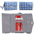 Womens Houndstooth Wallet Case Clutch Cover for Smart Cell Phones by KroO MLPK5