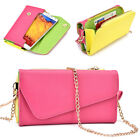 Ladie's PU Leather Wallet Case Cover & Crossbody Clutch for Smart-Phones XLUB2