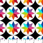 COLORWORKS CONCEPTS RAINBOW GEOMETRIC CRAFT QUILT FABRIC Free Oz Post 20782