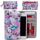 Womens Flower Pattern Wallet Case Cover for Smart Cell Phones by KroO ESMLF-12