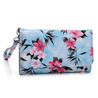 Womens Flower Pattern Wallet Case Cover for Smart Cell Phones by KroO ESMLF-26