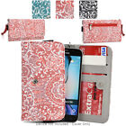 Ladie's Convertible Paisley Smartphone Wallet Cover & Wristlet Clutch ESMLP2-17