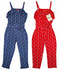 Girls Funky Diva Button Tie Front Summer Strap Jumpsuit 2 to 6 Years NEW