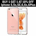 For New Apple iphone 7 6s Plus SE 5S 5 TPU Jelly Skin Case Cover Crystal Clear