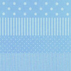 BLUE SPOTS & STRIPES 4 TO CHOOSE FROM CRAFT QUILT FABRIC Free Oz Post