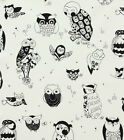 IT'S A HOOT OWLS CANVAS WHITE ALEXANDER HENRY FABRIC *** Free Oz Post ***