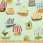 VIKING FLEET GREEN ALEXANDER HENRY QUILT SEWING FABRIC ** Free Oz Post ***