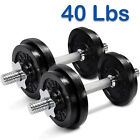 Yes4All Cast Iron Adjustable Dumbbell Weight Set, 40 to 200 lbs (Set of 2)