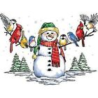 Snowman and Winter Birds  Tshirt   Sizes/Colors