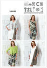 Vogue American Designer 9081 Marcy Tilton Dress Cardigan Sewing Pattern V9081