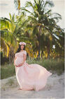 EMBRACE Pink Powder Bridesmaid Gown, Photography Prop Baby Shower Gift Maxi Dres