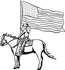Cowgirl Horse & Flag Decal,Vinyl Rodeo Western Window Decals, Stickers