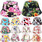 1pc Unisex Men Women Boonie Hunting Fishing Outdoor Cap Floral Bucket Sun Hat FM