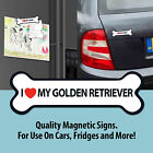 I love My Dog Breed Magnetic Signs