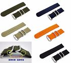 HQ 5 Colors Military Army 4mm thick Nylon Watch Band 20MM 22 MM Strap Fit Seiko