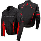 Scorpion Mens Black/Red Battalion Vented Textile Motorcycle Jacket