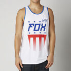 Fox Racing Mens Optic White Red, White And True Tank Top