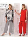 Vogue 9193 American Designer Marcy Tilton Tops Trousers Sewing Pattern V9193