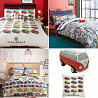 VW Volkswagen Official Duvet Cover Bedding Set inc Pillowcase Beetles Vdub City
