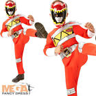 Red Dino Charge Power Ranger Boys Fancy Dress Superhero Kids Childrens Costume