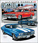 Chevelle Ultimate Muscle Tee Shirt T-Shirt Chevrolet Chevy SS