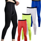 Mens Sports Compression Thermal Base Layer Tights Fitness Running Trousers Pants
