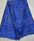 GORGEOUS ORANZA SEQUINS EMBROIDERED BRIDAL DRESS MESH LACE FABRIC  5YDS LOT