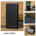 9 Colors Magnetic Flip Case Stand Wallet PU-Leather Card Cover For Leagoo Elite1