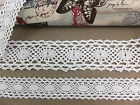 Lace Trim 005 - Crochet Cotton Ribbon Vintage Snow White 2cm 3.5cm wide