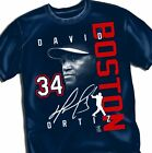 BOSTON RED SOX DAVID ORTIZ SIGNATURE ADULT TEE - Adult Sizes Brand New