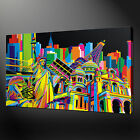 CITIES POP ARTCANVAS PRINT PICTURE WALL ART FREE UK DELIVERY VARIETY OF SIZES